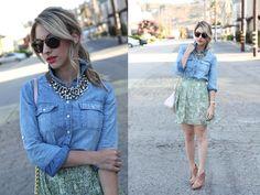 Combinando Jeans com saias