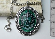 Large Harry Potter Inspired Slytherin Antique by resinapocalypse, $20.00