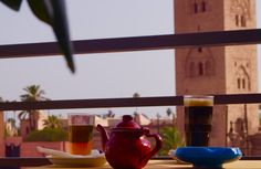 Rooftop of the Café Kif Kif in front of the Koutoubia, Marrakech
