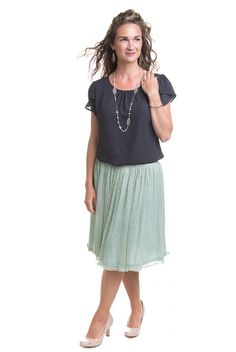 Type 2 Gently Laced Knit Tulle Skirt - Bottoms - Clothing