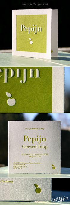 letterpers_letterpress_geboortekaartje_Pepijn_appel_preeg_oudhollands