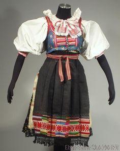 RARE Slovak Folk Costume Vazec embroidered apron blouse blueprint dress KROJ old Folk Costume, Costumes, Embroidered Apron, Dress Skirt, Blouse, Folk Art, Skirts, German, Polish