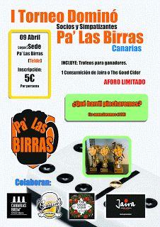 Pa' Las Birras: I Torneo Dominó Pa' Las Birras Canarias