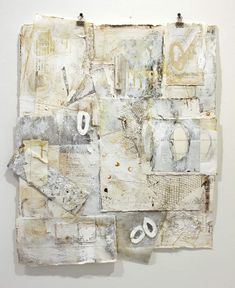 Karen Laborde_ References No.1 collage on paper      29 x 25 framed (Great idea for leftover gelli and collage papers.)