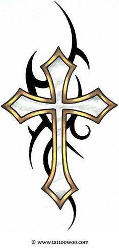 Tribal Cross Tattoo