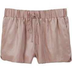 Metallic Shorts ($20) ❤ liked on Polyvore featuring shorts, mango shorts and metallic shorts