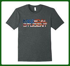 Mens American Flag USA Patriotic Medical Student 4th July T-Shirt XL Dark Heather - Holiday and seasonal shirts (*Amazon Partner-Link)