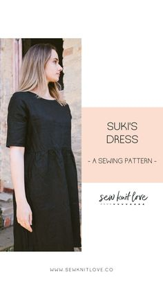 Suki's Dress is an easy shift dress sewing pattern. A classic A line shift shape with no detailing and a de-emphasised waist this dress will rival your favourite pair of jeans for versatility and comfort. Semi-loose fit, flattering on just about every body type.The set sleeves show of the line of your shoulders beautifully, whilst the high neck sits just a cross the collar bones. Available in A0, A4, and US letter sizes.