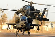 2 Apache attack helicopters