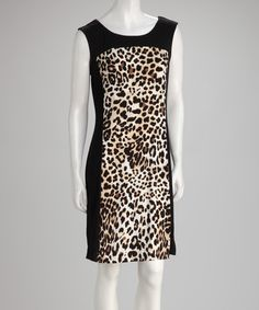Take a look at this Black Animal Dress by Voir Voir on #zulily today!