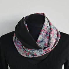 Foulard snood femme liberty & pure soie taille m