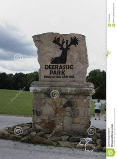 Photo about Located in Cambridge, Ohio this center educates the public about deer and holds summer festivals. - 107299448
