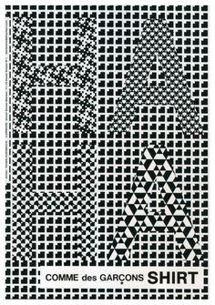 Cool Artist Tauba Auerbach Created this Ad For Comme des Garçon.