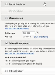 Web solutions, buy insurance online. #Forsikring