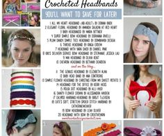 20 Free Patterns for Crocheted Headbands You'll Want to Save for Later