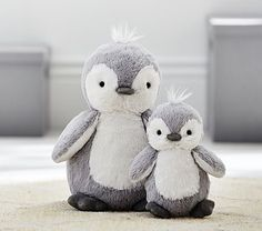 Plush penguins | Pottery Barn Kids.
