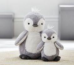 Plush penguins | Pottery Barn Kids.