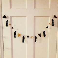 Feather Bunting  Feather Garland  Ombre Brown Felt by LynnsMix, $17.00