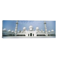 """East Urban Home Panoramic 'Sheikh Zayed Mosque, Abu Dhabi, United Arab Emirates' Photographic Print on Canvas Size: 20"""" H x 60"""" W x 1.5"""" D"""