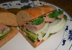 Shawna's Food and Recipe Blog: Hillbilly Pâté Sub with Cilantro Roasted Pepper Spread and Neon Relish