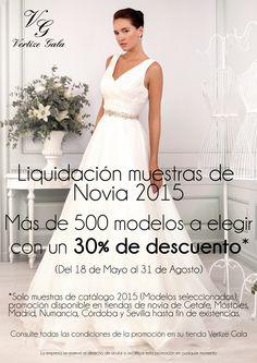 d1e3ec25d Liquidación de Muestrarios de Novia 2015  promociones  descuentos   liquidación  novias2015. Vertize Gala