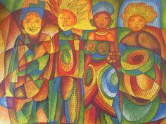 DJANEA  BA AFRICA / PRINCES ET PRINCESSES DAFRIQUE - http://www.oho-art.com/oeuvres/djanea-ba-africa-princes-et-princesses-dafrique/