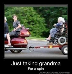 Just taking grandma - Visit DodgyShit.com - http://www.dodgyshit.com/pin/70083/just-taking-grandma/