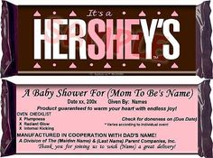 Buy the original HerSHEy's chocolate baby shower favors. Custom printed to celebrate mom, baby girl & thank guests. Baby Shower Gender Reveal, Baby Gender, Baby Shower Favors, Baby Shower Decorations, Bridal Shower, Chocolate Babies, Baby Mine, Reveal Parties, Baby Party