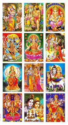 Twelve Miniature Deity Stickers (Hindu Picture on Sticker) Hanuman Images, Durga Images, Lakshmi Images, Lord Krishna Images, Shiva Art, Hindu Art, Krishna Art, Krishna Lila, Navratri Wallpaper