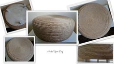 What you can make with the old tire and natural sisal rope... Cool seat or original coffee table.