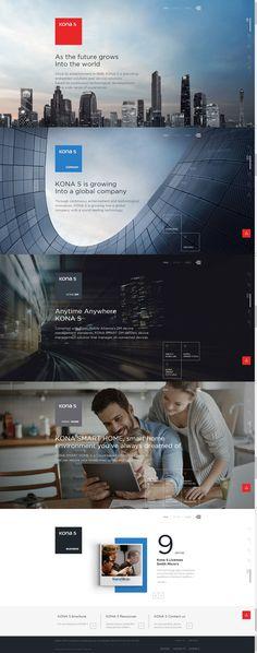 코나에스(Konas) User Interface Design, Ui Ux Design, Layout Design, Graphic Design, Ad Layout, Website Layout, Landing Page Design, Web Design Inspiration, Design Reference