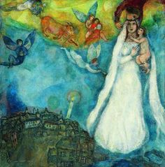 The Madonna of the Village by Marc Chagall