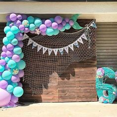 Lisa's Birthday / Mermaid - Photo Gallery at Catch My Party Mermaid Birthday Decorations, Mermaid Theme Birthday, Little Mermaid Birthday, Little Mermaid Parties, Girl Baby Shower Decorations, First Birthday Parties, Birthday Party Themes, 4th Birthday, Photos