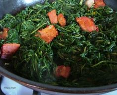 DANDELION GREENS W/BACON Tasty Dishes, Side Dishes, Black Cook, Living Off The Land, Food Preparation, Soul Food, Dandelion, Bacon, Southern