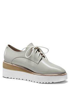 Patent Leather Square Toe Platform Shoes