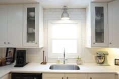 You might want to rethink your kitchen backsplash when you see what this woman did!