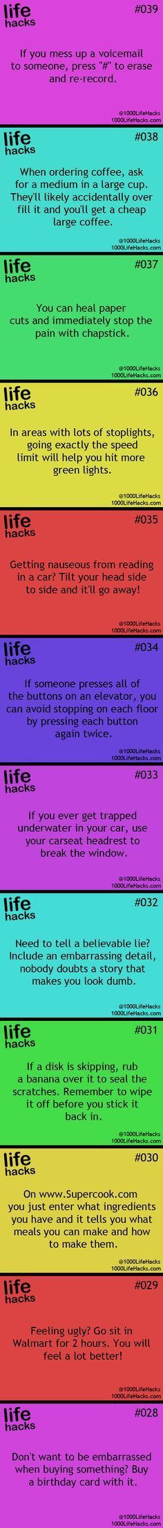 25 Useful Life Hacks…