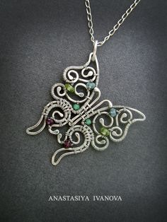 pendant butterfly silver pendant insects jewelry от NastivaJewelry