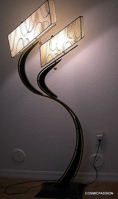 Rare floor lamp. Paired with a table lamp in the same style