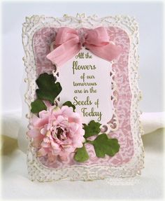 """Found on """"Thinking Inking"""" blog. Received in my RSS feeds, but unable to locate on the original blog. The beautiful lace design is a new Spellbinders design coming out soon. Decorative labels eight, I think it's called. So beautiful and feminine."""