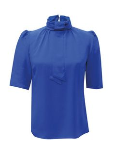 Oh I do like the electric blue. Sibyll Top in Blue Neon Accessories, The Clash, Printed Pants, Electric Blue, Color Pop, Chef Jackets, Your Style, Shirts, Shopping
