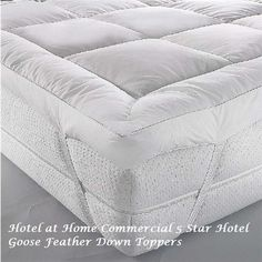Luxury Duck Feather & Down Mattress Topper Matress Cover Available In All Sizes Hotel Mattress, Pillow Mattress, Hotel Bed, Cot Bedding, Best Mattress, Mattress Covers, Mattress Protector, Linen Sheets, King Pillows