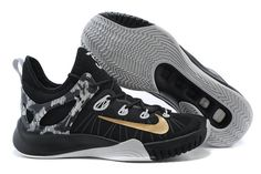 84ac39e10ad5 Nike Zoom HyperRev 2015 Black White Metallic Gold 705370 071 Paul George PE
