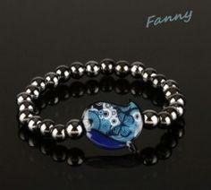 Bracelet Poussin bleu
