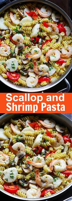 Scallop and Shrimp Pasta – Easy scallop and shrimp pasta cooked to perfection like Italian restaurants. Delicious dinner for the family   rasamalaysia.com