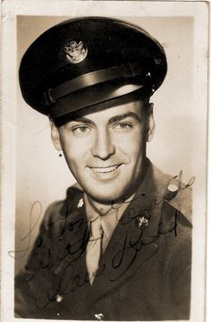 Alan Ladd served in the United States Army Air Force's First Motion Picture Unit during WWII. (He was married to Betty White)