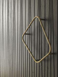 Tobias Partners - Cooper Park House.  Custom-made handle on rosewood door.