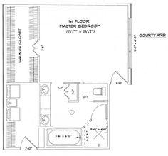 master bedroom floor plans   Picture Gallery of the Master Bedroom ...