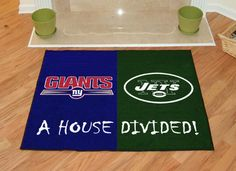 (click twice for updated pricing and more info) NY Giants - NY Jets House Divided Rugs 34 #area_rugs #gameroom_rugs http://www.plainandsimpledeals.com/prod.php?node=12989=NY_Giants_-_NY_Jets_House_Divided_Rugs_34#
