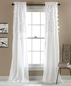 Another great find on #zulily! White Avery Window Curtain - Set of Two by  #zulilyfinds